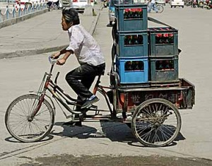 Exemple d'un tricycle utilitaire en Asie